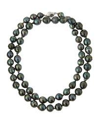 Belpearl | Long 14k Baroque Tahitian Black Pearl Necklace | Lyst