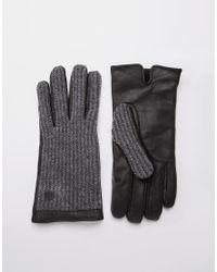 Jack & Jones | Black Woody Leather Gloves for Men | Lyst