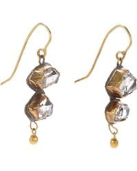 Judy Geib | Metallic Women's Herkimer Diamond Double-drop Earrings | Lyst