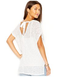 Sanctuary | White Short-sleeve Tunic Sweater | Lyst
