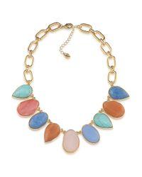 Carolee | Metallic Caspain Sea Multi-stone Semi-precious Collar Necklace | Lyst