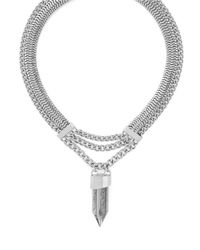 BCBGeneration | Metallic Rock Candy Shard Chain Necklace | Lyst
