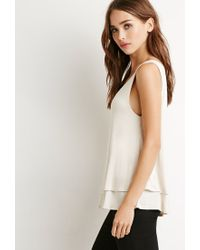 Forever 21 | White Layered Knit Tank | Lyst