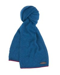 Ted Baker - Blue Cable Detail Scarf for Men - Lyst