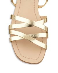 Splendid | Metallic Tayler Leather Lace-up Sandals | Lyst