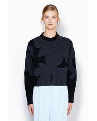 3.1 Phillip Lim - Black Floral Pullover - Lyst