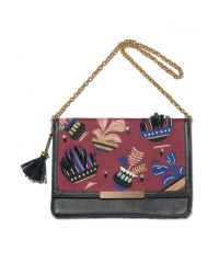 Lizzie Fortunato | Red Port Of Call Clutch In House Plant | Lyst