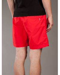 Orlebar Brown - Red Mid-length Swimming Trunk for Men - Lyst