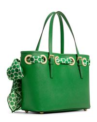 MICHAEL Michael Kors | Green Small Jet Set Scarf Tote | Lyst