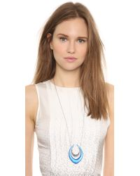 Alexis Bittar - Blue Lucite Pyramid Pendant Necklace - Lyst