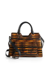 Proenza Schouler - Multicolor Ps13 Mini Snakeembossed Leather Satchel - Lyst