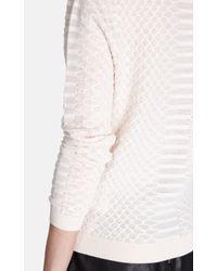 Karen Millen - Natural Snake Jacquard Sweatshirt - Lyst
