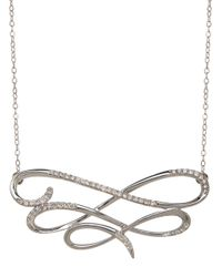 Lord & Taylor - Diamond And 14k White Gold Necklace - Lyst