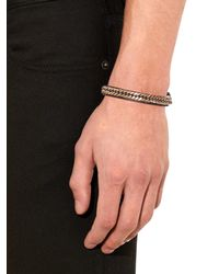 Givenchy - Metallic Leather And Chain Bracelet - Lyst