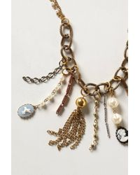 Anthropologie - Metallic Teensy Treasures Necklace - Lyst