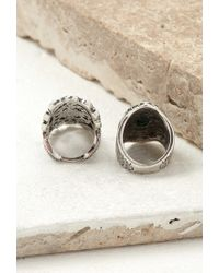 Forever 21 - Metallic Filigree And Etched Ring Set - Lyst
