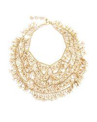 Rosantica By Michela Panero | Metallic Carmen Riverpearl Bib Necklace | Lyst