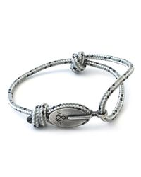 Anchor & Crew - Gray Grey Dash London Rope Bracelet for Men - Lyst