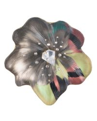Alexis Bittar | Multicolor Limited Edition Silk Mosaic Flower Pin | Lyst