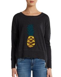 French Connection - Gray Sequin Pineapple Hilo Pullover - Lyst