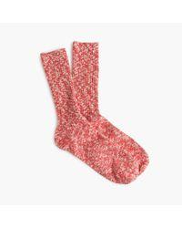 J.Crew | Pink Marled Camp Socks | Lyst