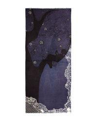 Yarnz - Blue Lace Tree Cashmere Scarf - Lyst