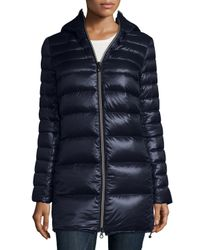 Duvetica | Blue Calimon Down Coat W/ Zip-off Sleeves | Lyst
