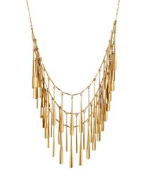 Panacea | Metallic Golden Layered Station Necklace | Lyst