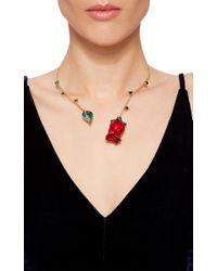 Alison Lou   Metallic Rose Chocker   Lyst