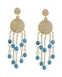 Karen Kane | Blue Sandy Beach Beaded Chandelier Earrings | Lyst