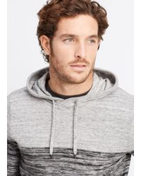 VINCE | Gray Sporty Jaspé Colorblocked Pullover Hoodie for Men | Lyst