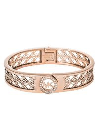 Michael Kors | Metallic Filigree Logo Bracelet | Lyst