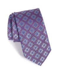 John W. Nordstrom | Purple 'molinara' Medallion Silk Tie for Men | Lyst