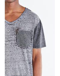 BDG - Gray Burnout Standard-fit V-neck Tee for Men - Lyst