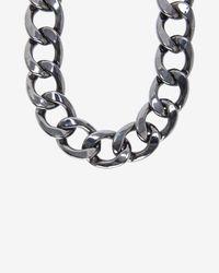 Fallon - Gray Chunky Chain Link Biker Choker - Lyst