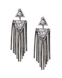 Banana Republic | Metallic Deco Trillion Earring | Lyst