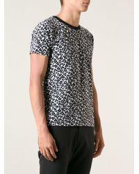 c4d50dad5dd Saint Laurent Leopard Print T-Shirt in Black for Men - Lyst