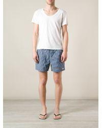 Ferragamo | Blue Patterned Deck Shorts for Men | Lyst