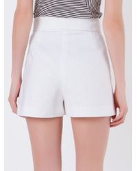 Giuliana Romanno | White Side Panels Shorts | Lyst