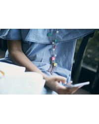 Eshvi | Metallic Back To School Pastel Tassel Necklace | Lyst