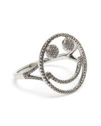 Rosa De La Cruz - Black Smiley Face Diamond Ring - Lyst