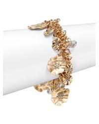 Saks Fifth Avenue | Metallic Flower Stretch-Link Bracelet | Lyst