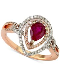 Effy Collection | Metallic Effy Ruby (7/8 Ct. T.w.) And Diamond (1/3 Ct. T.w.) Ring In 14k Gold | Lyst