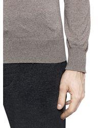 Emporio Armani - Gray Virgin Wool Sweater for Men - Lyst