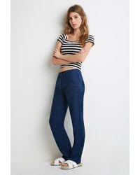 Forever 21 | Blue Linen Drawstring Pants | Lyst