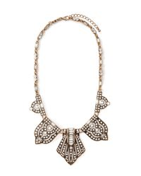 Forever 21 - Metallic Rhinestoned Pendant Statement Necklace - Lyst