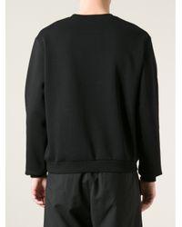 Christopher Kane | Black Contour Map Print Sweatshirt for Men | Lyst
