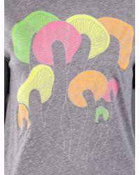 Lucien Pellat Finet - Gray Mushroom Print Shirt - Lyst