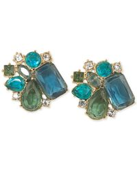 Carolee | Blue Cluster Clip-on Earrings | Lyst