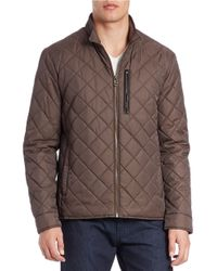 Cole Haan | Brown Diamond-Quilted Jacket for Men | Lyst